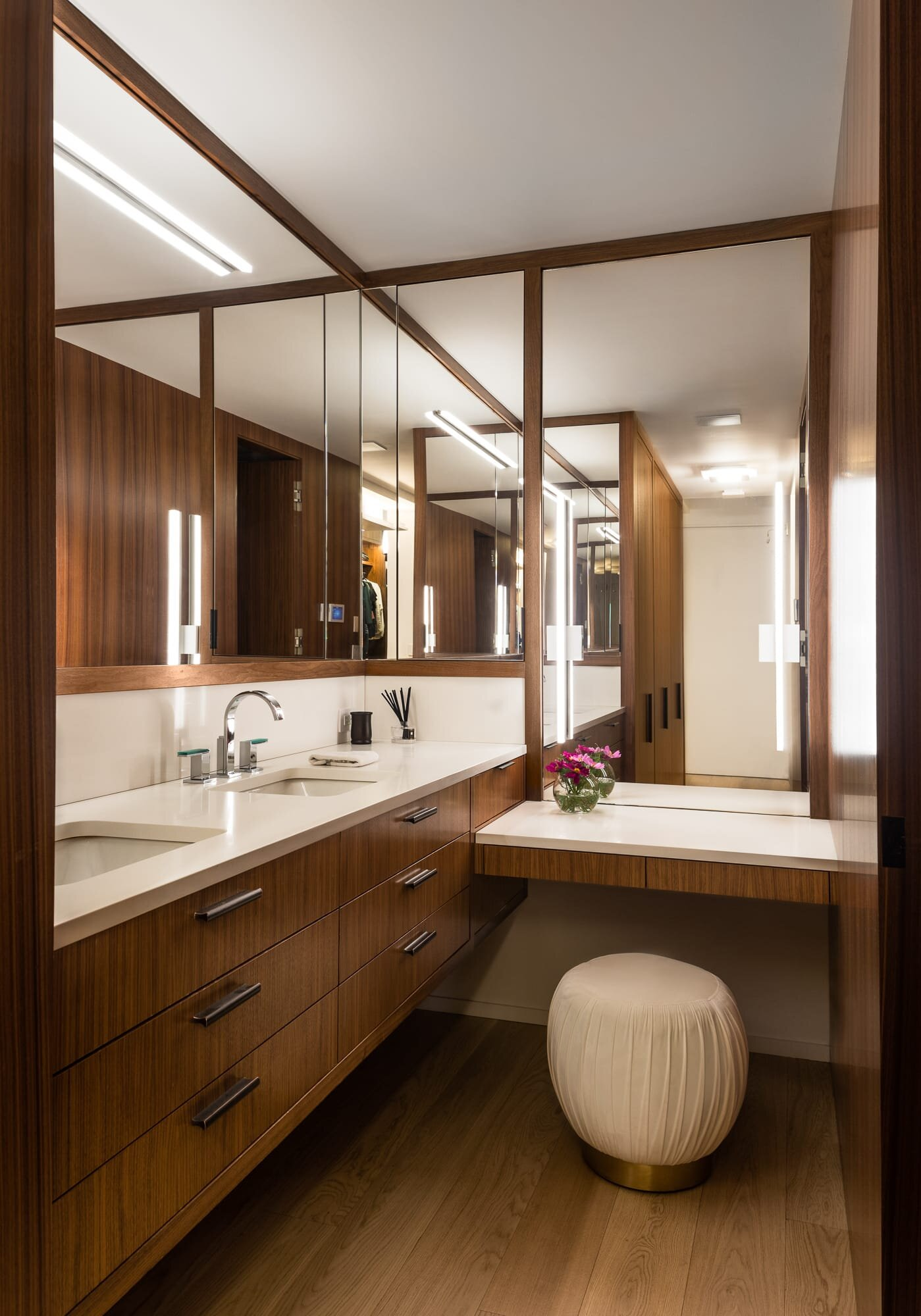 Walk in closet designed by Andrew Wilkinson Architect