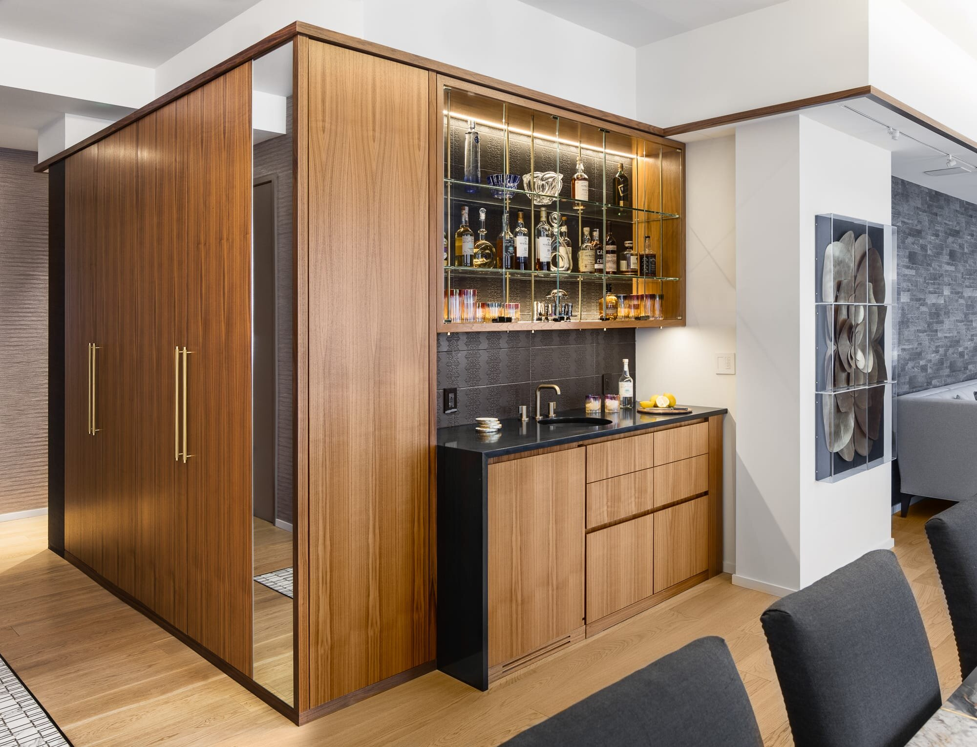 Corner bar designed by Andrew Wilkinson Architect