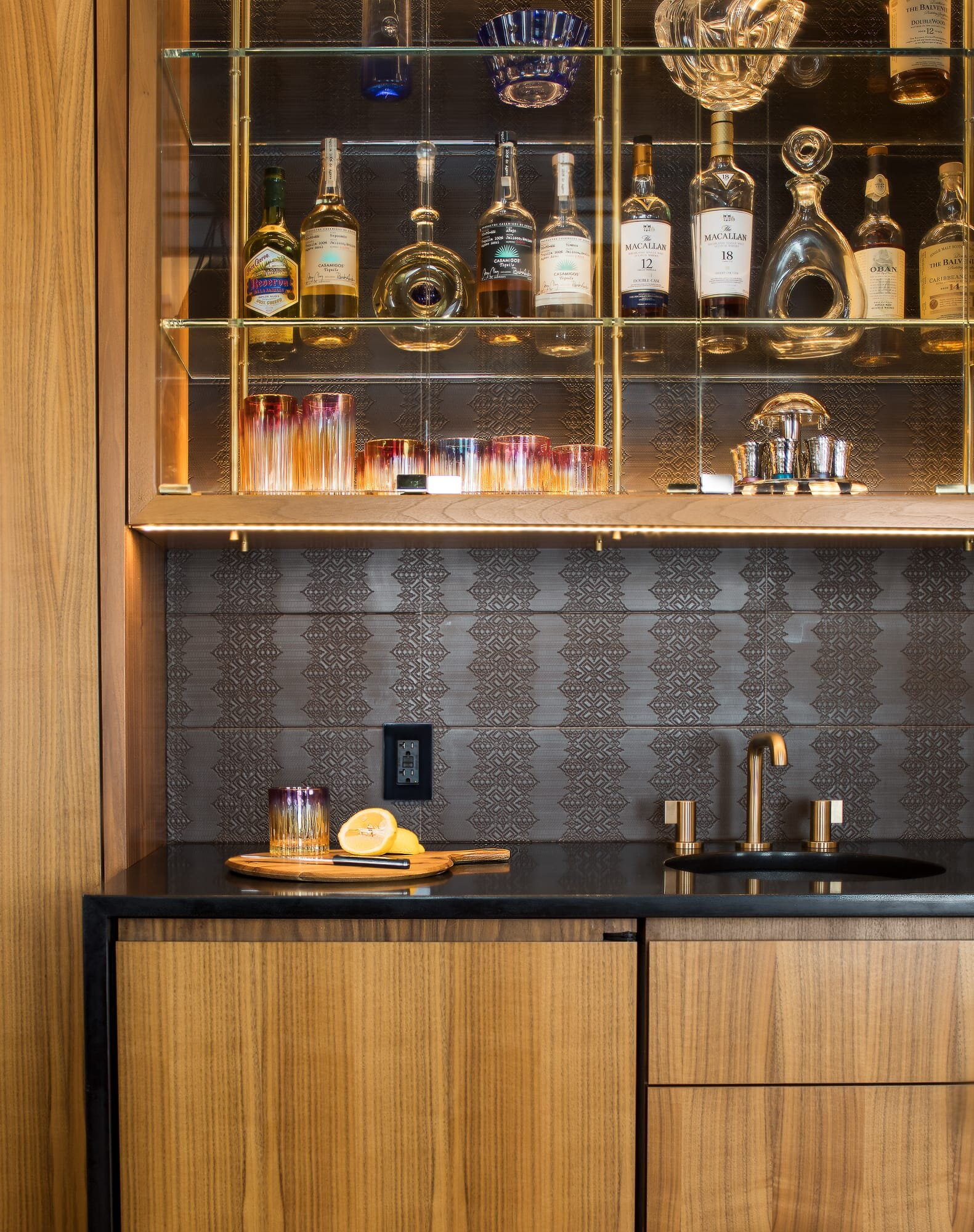 Bar details designed by Andrew Wilkinson Architect