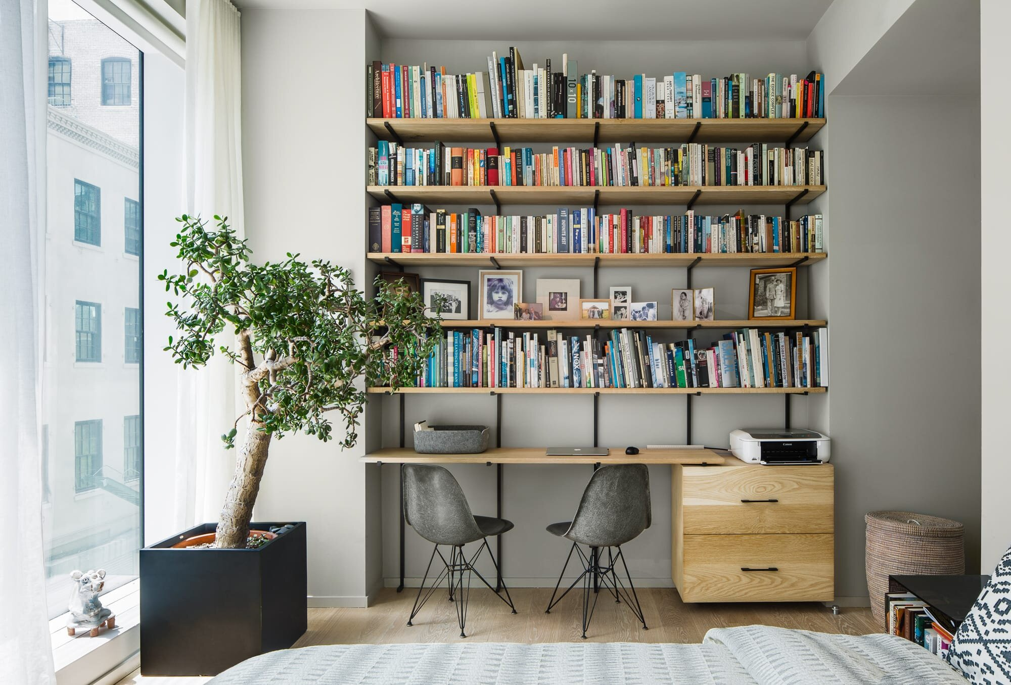 Office space in the bedroom designed by Alloy Development