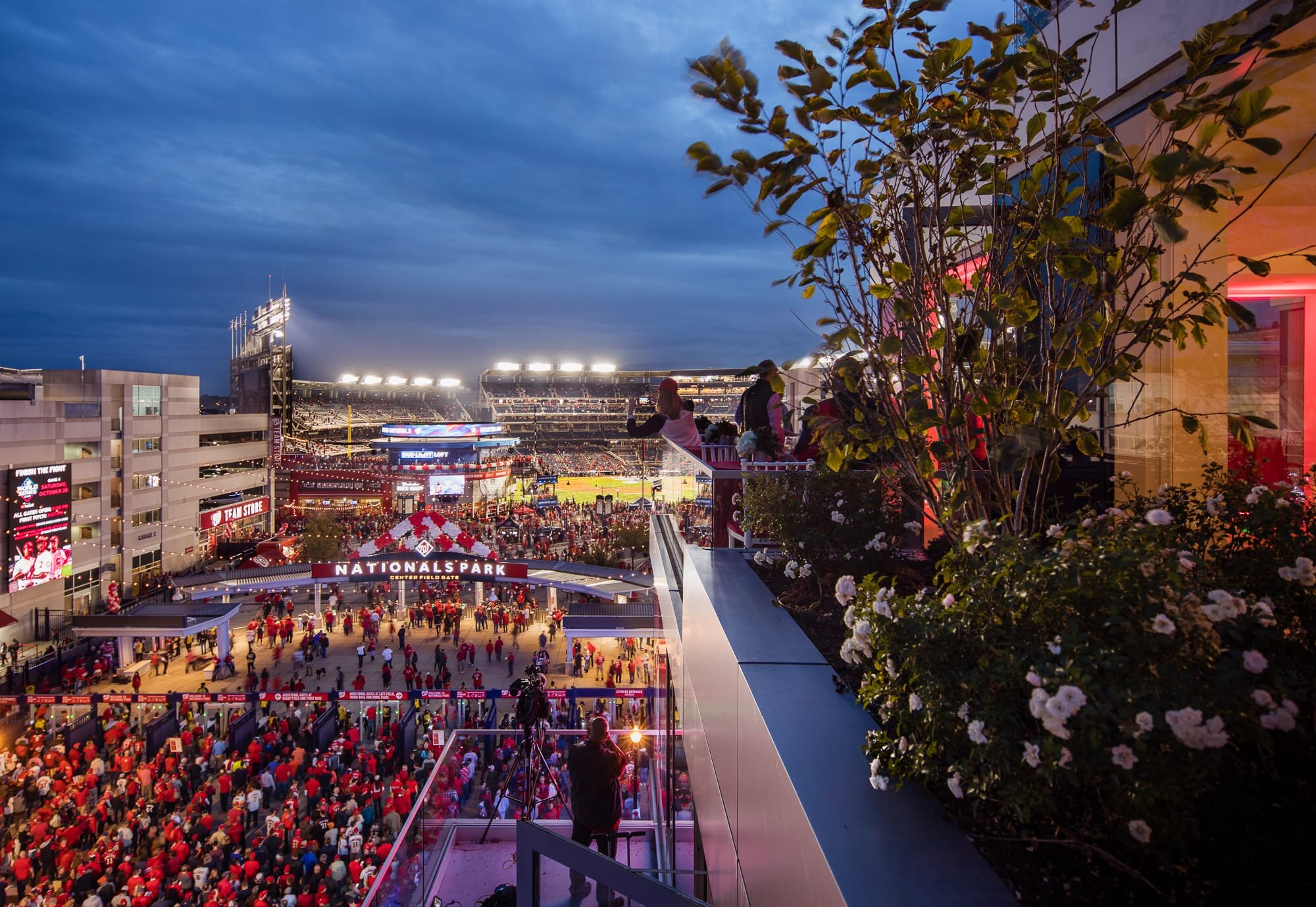 Gorgeous view from the West Half development by JBG Smith during World Series in Washington