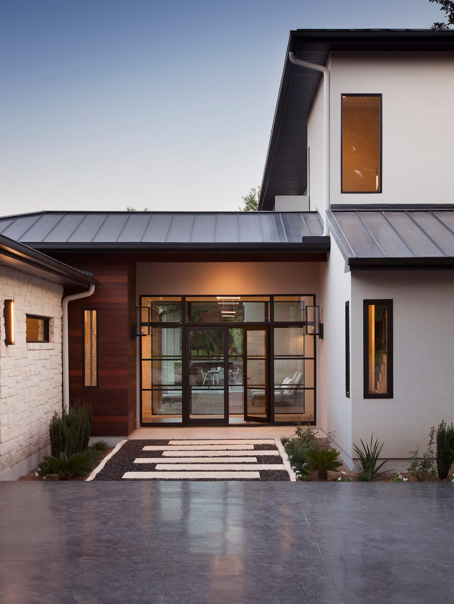Horseshoe Bay Exterior Entry | Robin Colton Interior Design Studio Austin Texas | www.robincolton.com