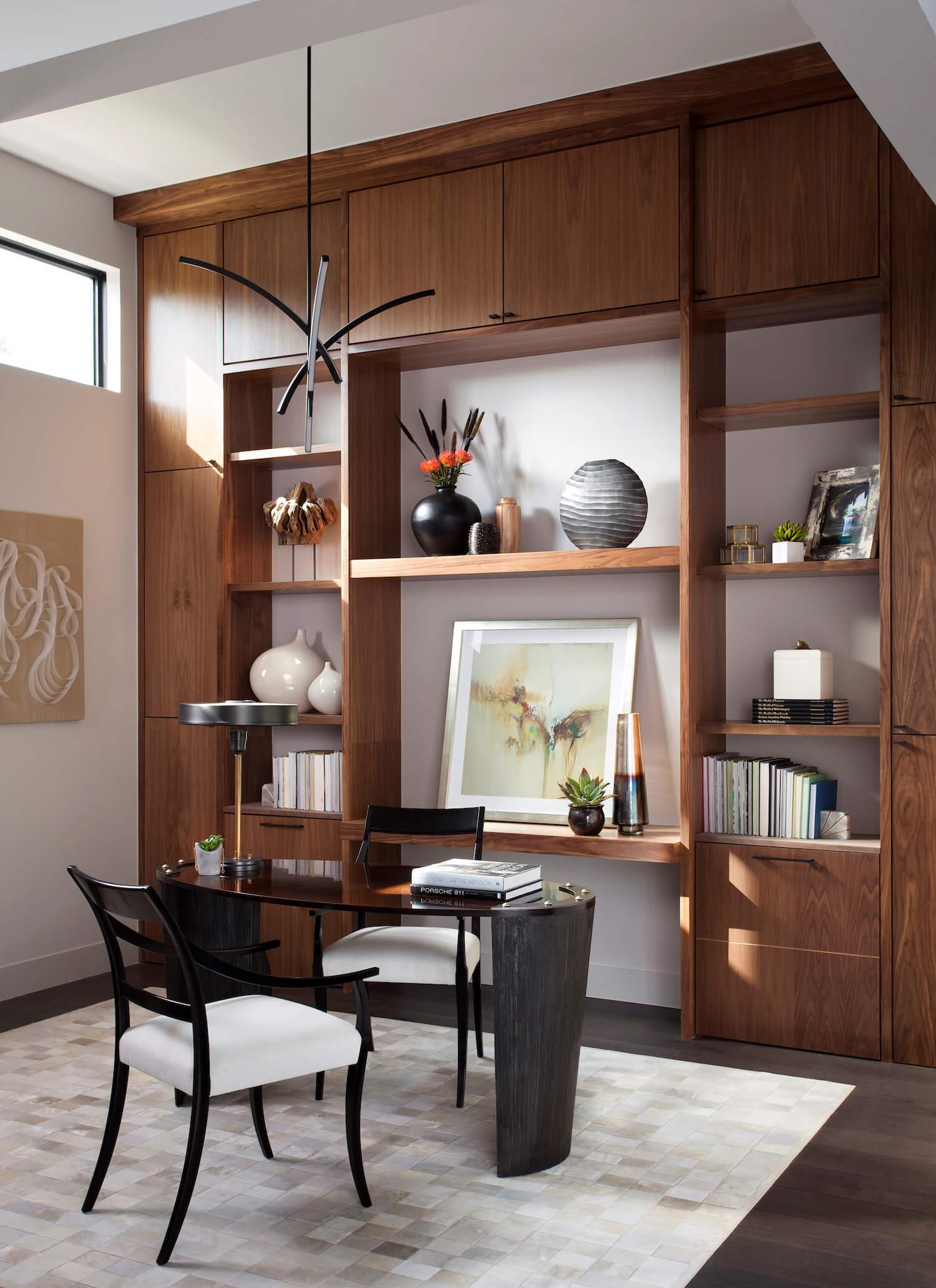 Horseshoe Bay Library Office | Robin Colton Interior Design Studio Austin Texas | www.robincolton.com