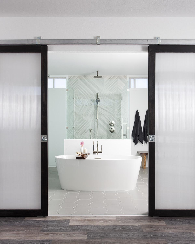 North Central Austin Condo Master Bathroom   Robin Colton Interior Design Studio Austin Texas   www.robincolton.com