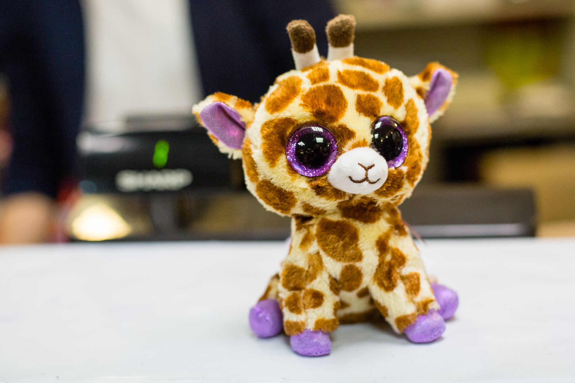Immediately upon arriving, we found a store that sold Beanie Boos. We liberated this little beast from his life of captivity in Penn Station.
