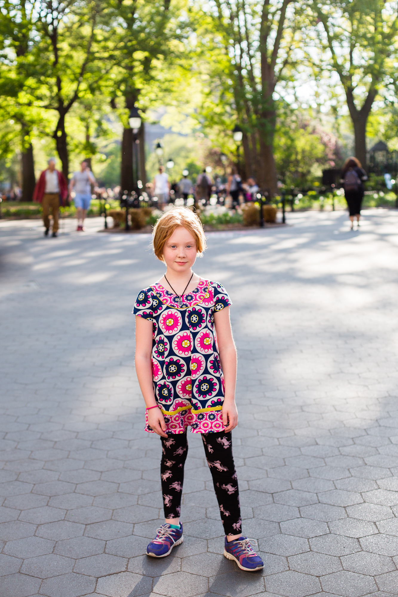 We headed down to Washington Square Park so I could show her where I went to college. There w