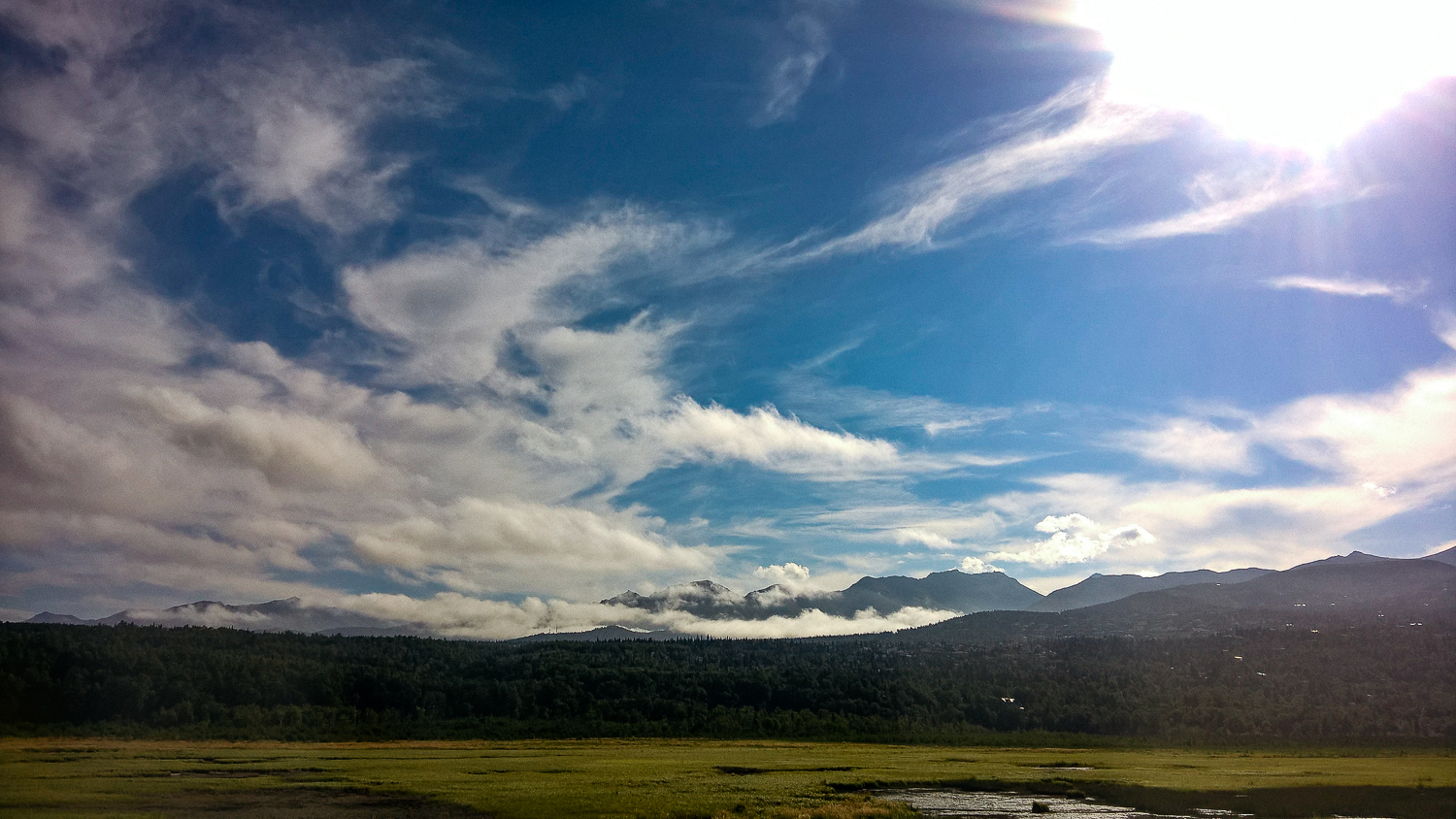 The second day, we headed out to take the Alaskan railroad. I took this through the window of our transport bus. Everything in Alaska is just stupid beautiful.(Shot with the Nokia Lumia 640 XL)