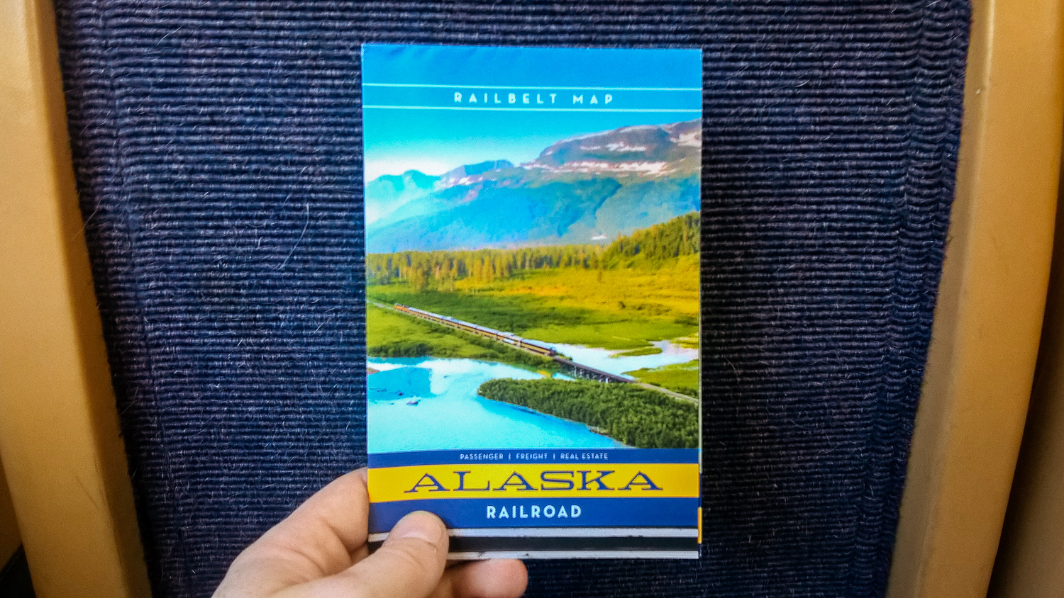Even the map is really pretty on the Alaskan railroad.(Shot with the Nokia Lumia 640 XL)