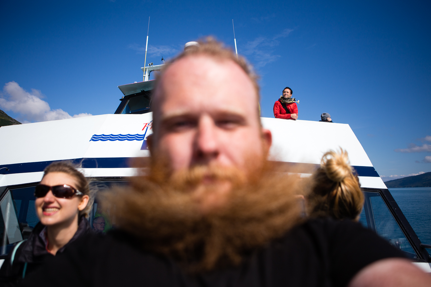 I attempted to take one selfie while I was on the boat to show off the shenanigans my beard was getting up to. Instead, I ended up taking a portrait of Stephen Alvarez that I'm sure he'll cherish forever. (DSLR)