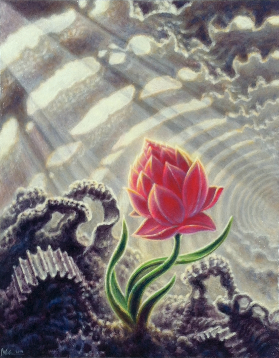"Guy Aitchinson ""Perennial"" Acrylic on canvas 20x16 $3200"