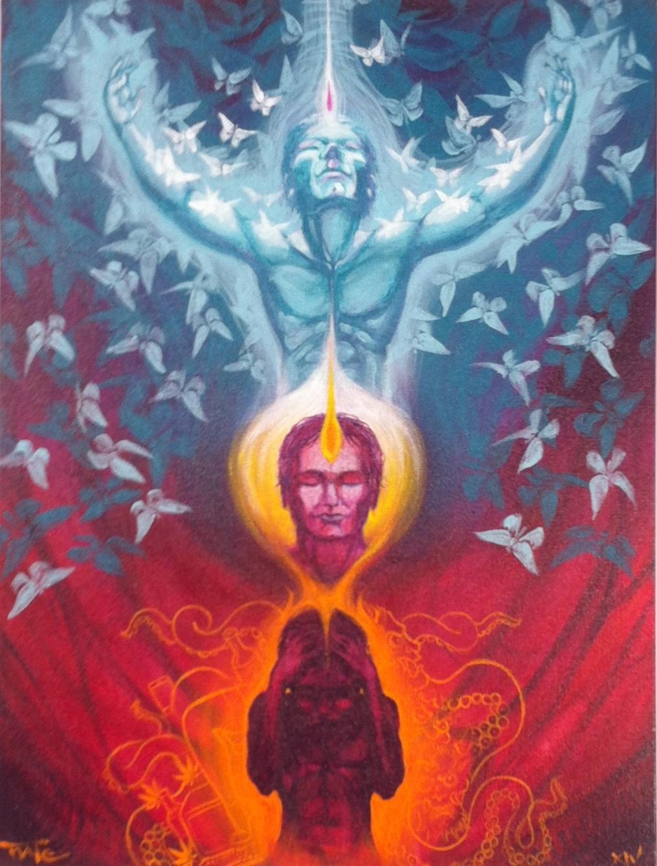 "Nate Bañuelos ""Metamorphosspitialis"" Acrylic on canvas 24x18 $3000"