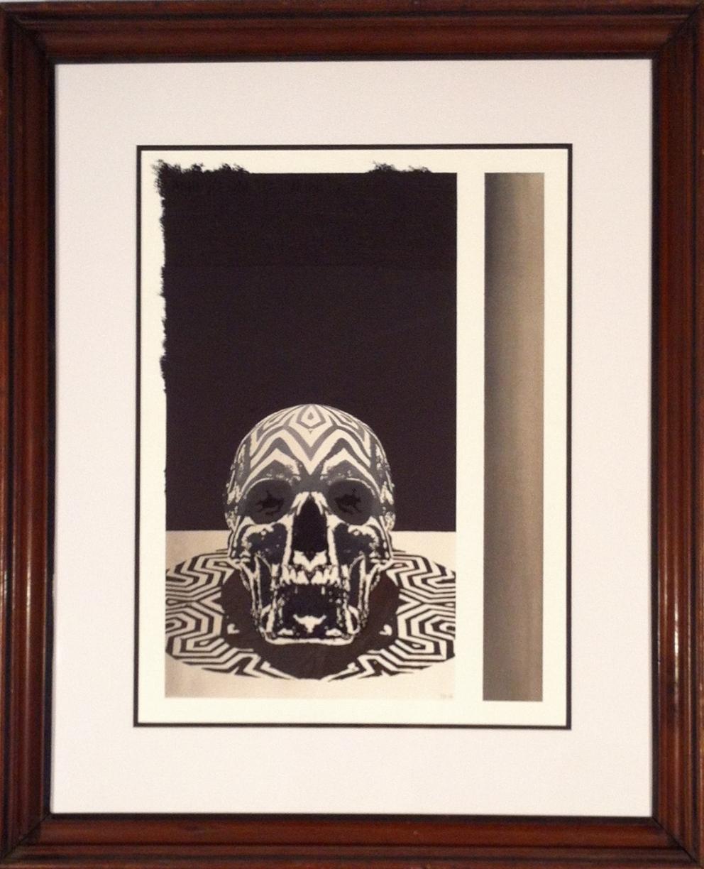 "Thomas Hooper ""Journeyman"" Watercolor & salt on paper 29x24 SOLD"
