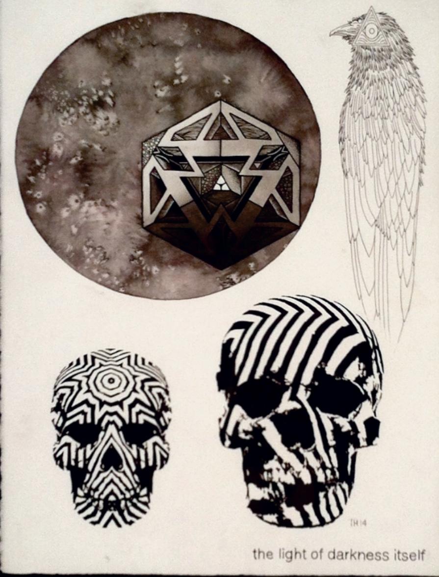 "Thomas Hooper ""Infinitum"" Watercolor & gouache on paper 24x20 $1800"