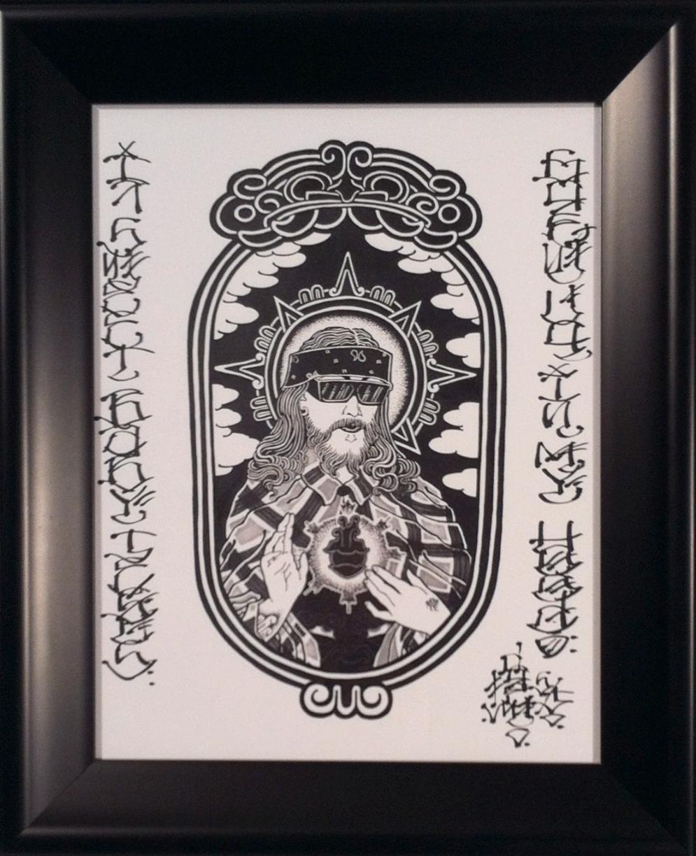 """Drew Flores """" Born Again Gangster"""" Cheap print 18x15 SOLD"""
