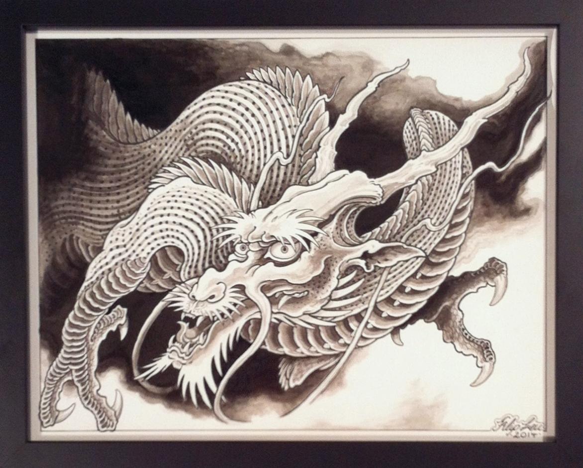 "Filip Leu ""Untitled"" India ink on paper 12x15 NFS"