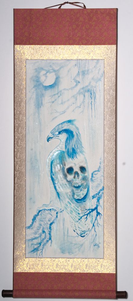 """Hawk is friends with Death 46""""x20"""" $1350.00"""