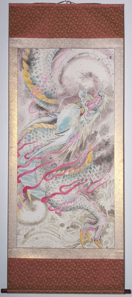 """Dragon with water 77""""x34"""" $3350.00"""