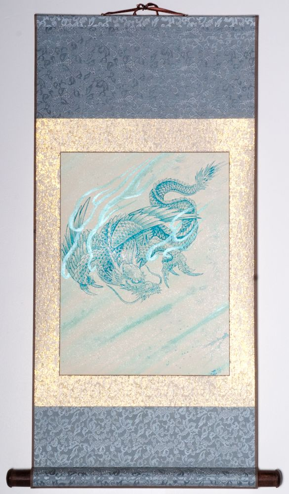 """Winged Dragon 31""""x18"""" SOLD"""