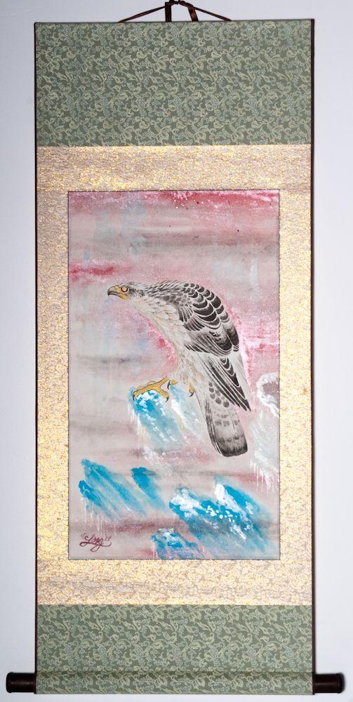 "Solitary Hawk 40""x20"" $850.00"
