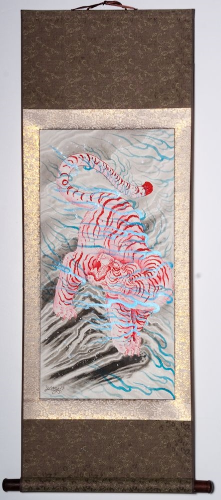 """Burning between the rocks and clouds 43""""x19"""" $1250.00"""