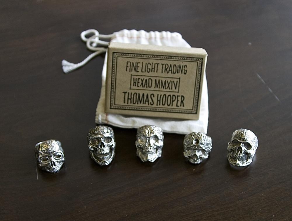 Fine Light Trading/Hooper HEXAD MMXIV STERLING SILVER RING $375.00 each