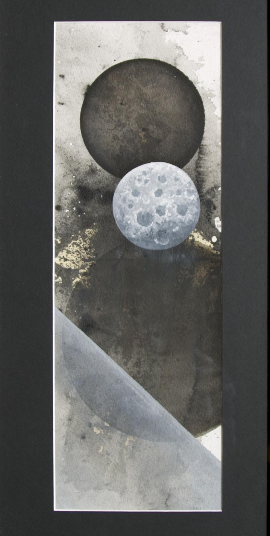 Ink, acrylic, enamel on paper 25 1/2 in. x 13 1/4 in. framed $700.00