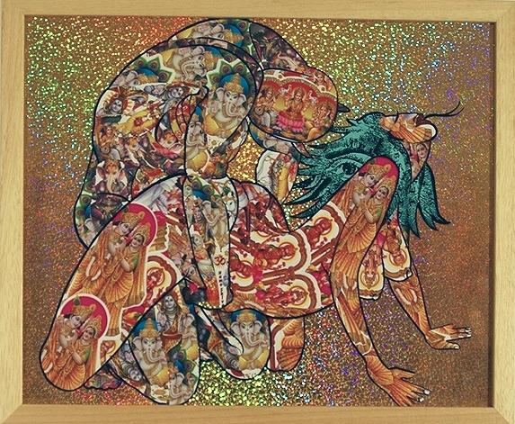 Sex Ritual  Multi Media 15 1/4 in. x 18 1/2 framed $800