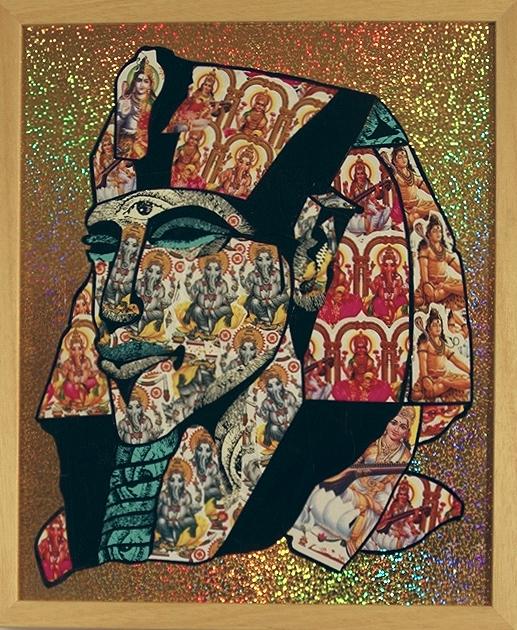 Akhenaten  Multi Media 18 1/2 in. x 15 1/4 in. framed $1000