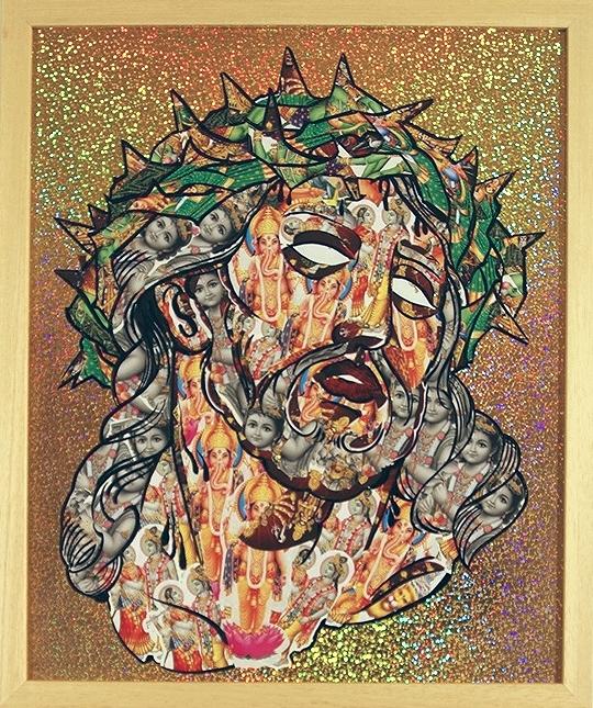 Salvation  Multi Media 18 1/2 in. x 15 1/4 in. framed $1000.00