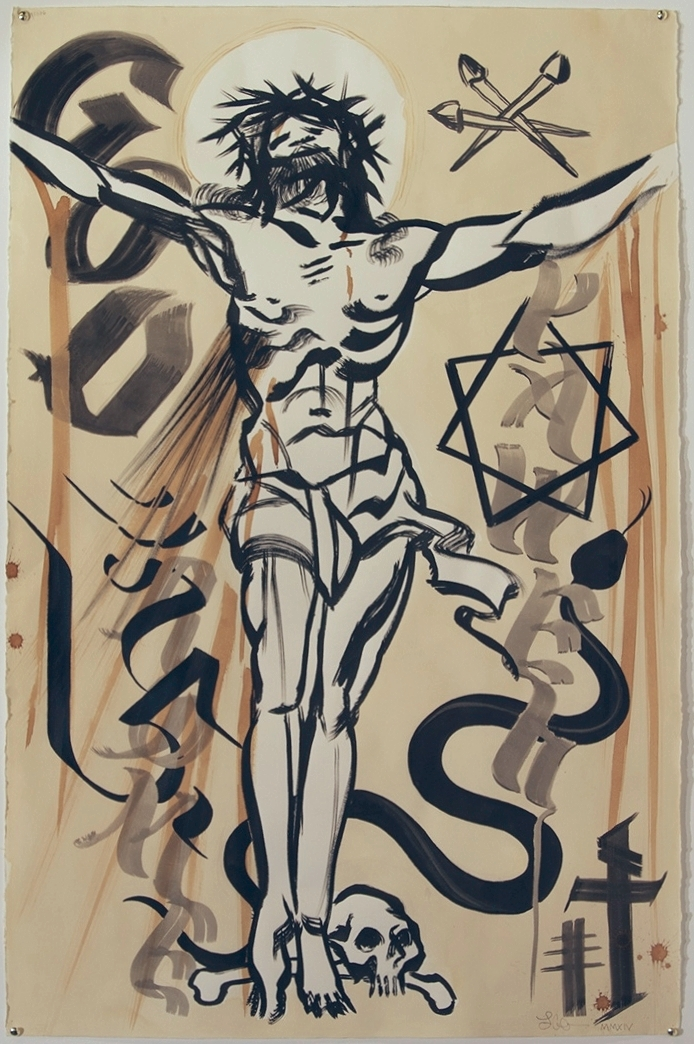 Dogma  India Ink, Acrylic, & Espresso on Paper 40 in. x 26 in. $800