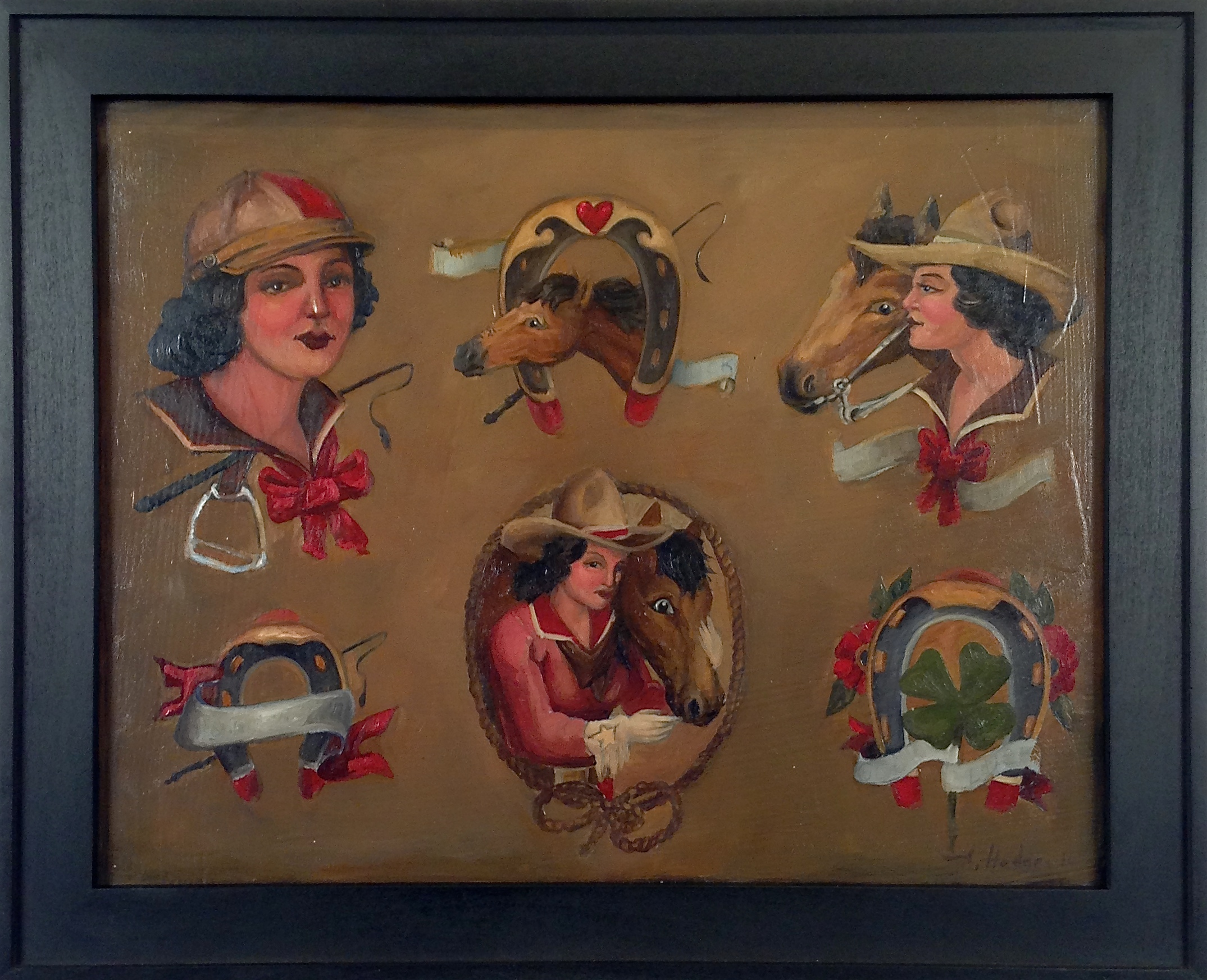 """""""From Bob"""" by A. Hodges Oil on Canvas 11 in. x 14 in. framed $1400"""