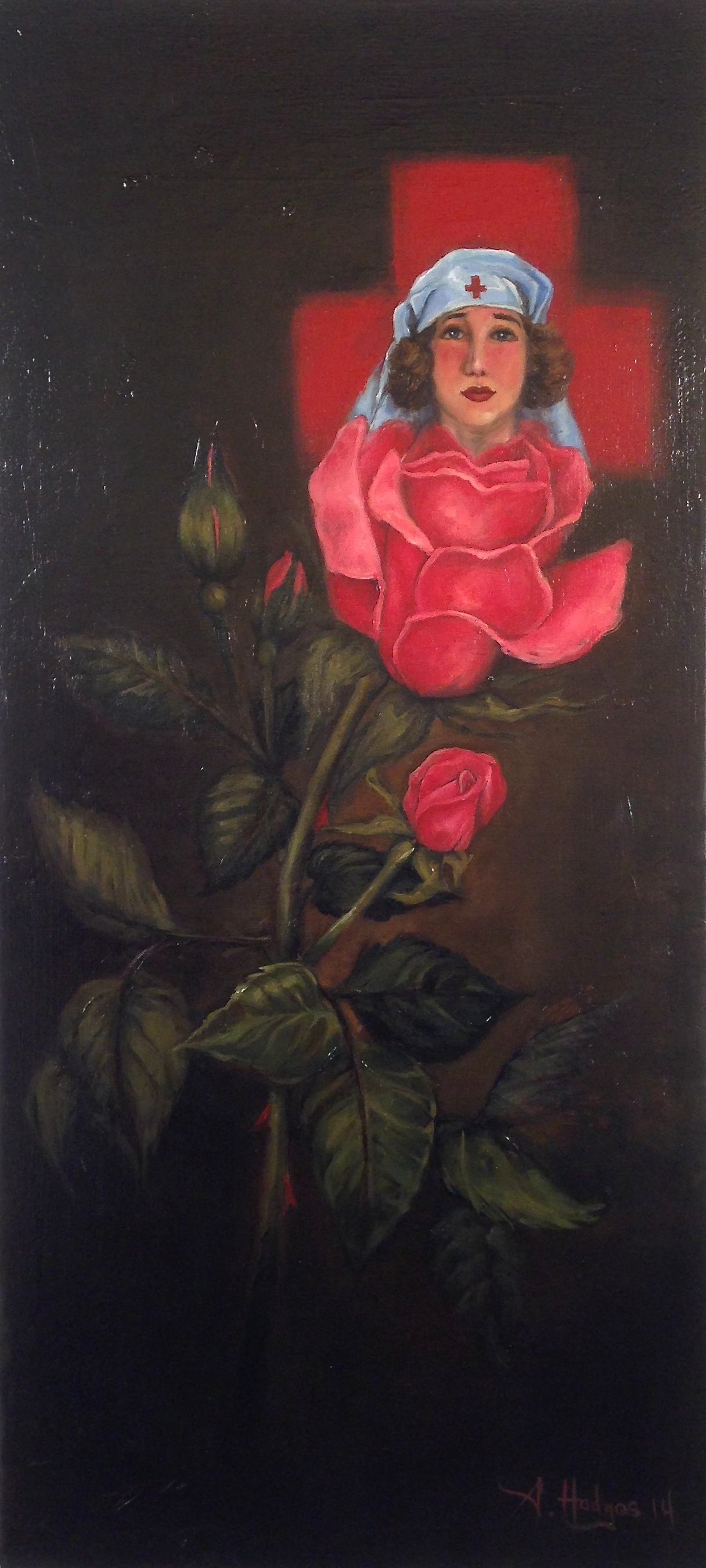 """""""Tribute"""" by A. Hodges Oil on Canvas 30 in. x 14 in. $1800"""