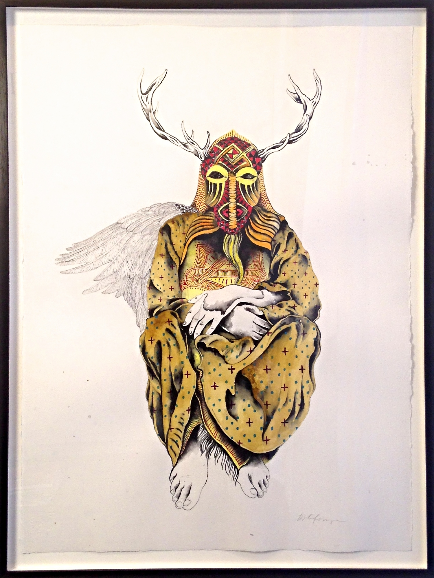 SEER 1   Watercolor & Acrylic Ink on Paper Framed 32 3/4 X 24 3/4 $1100 Unframed 30x22 $850 Series made specifically for ATAK Gallery exhibit.