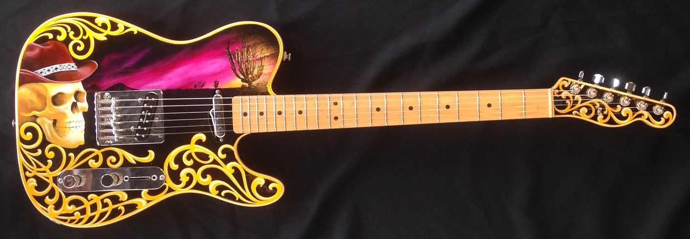 """""""Paul Miner's Telecaster"""" Acrylic on Guitar NOT FOR SALE"""