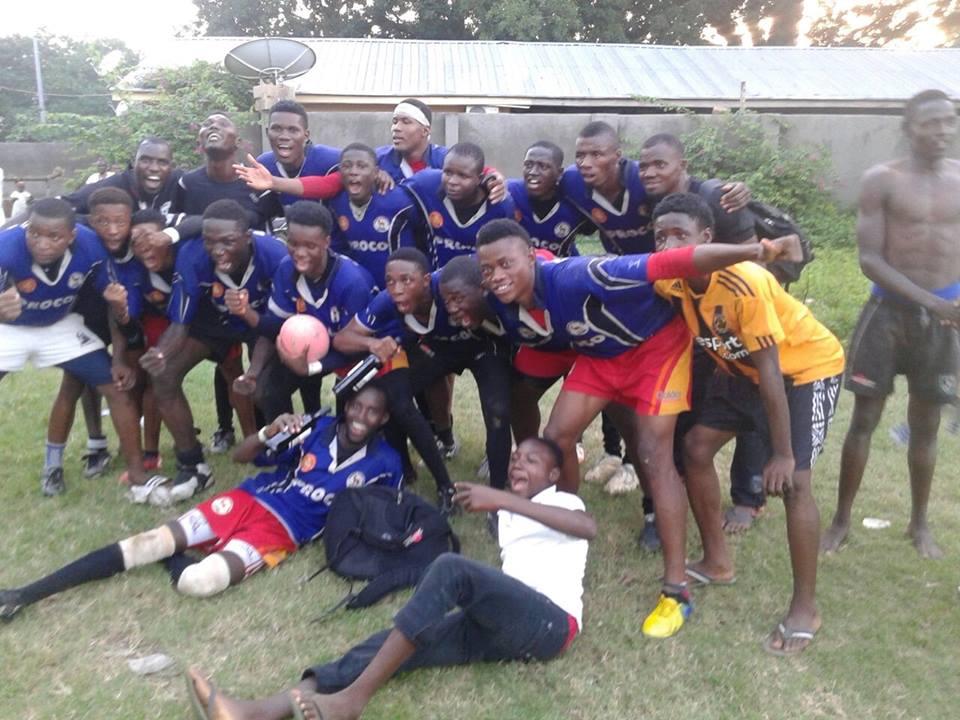 Barewa celebrate winning Lilliker Cup 2015.