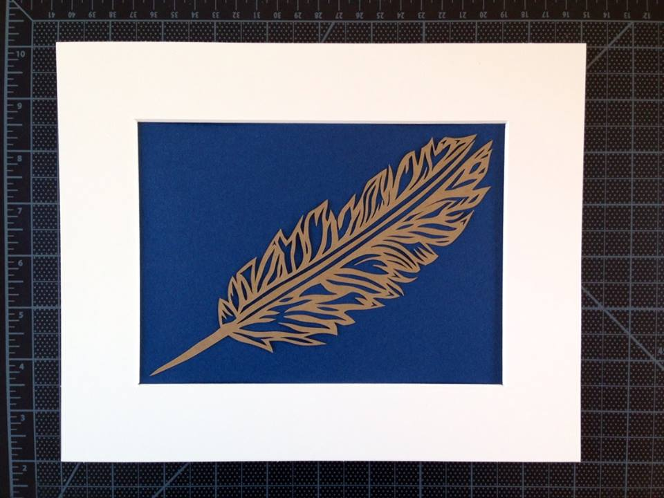 Feather by The Papercutterie