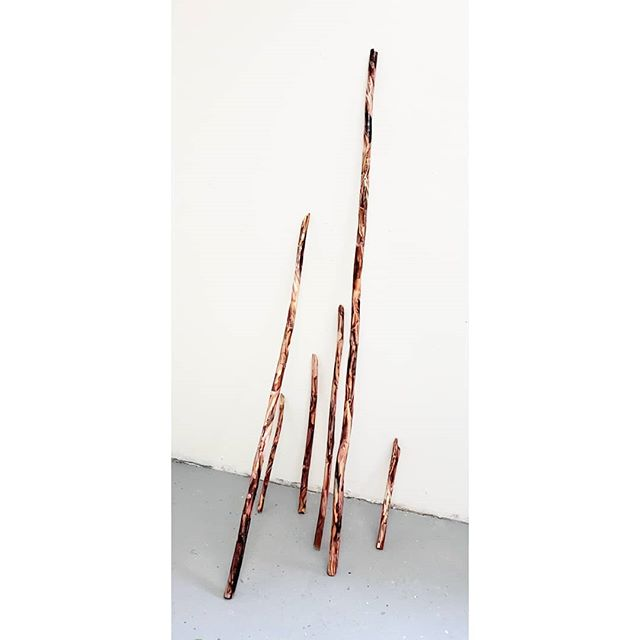 New sculpture. Just realized that I spent three days making flesh sticks. #sculpture  #vermontstudiocenter
