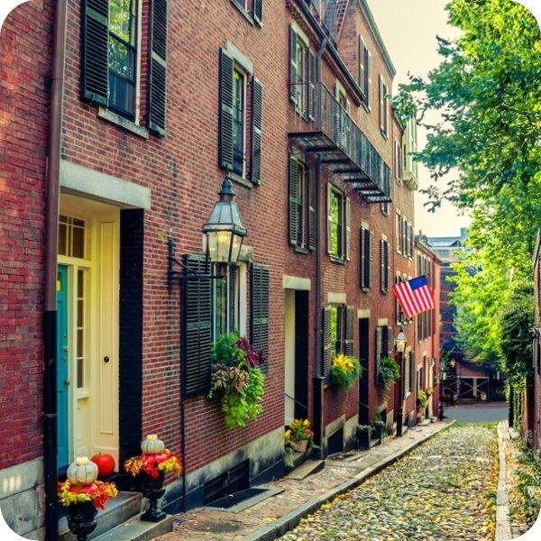 Englisch lernen in historische Boston
