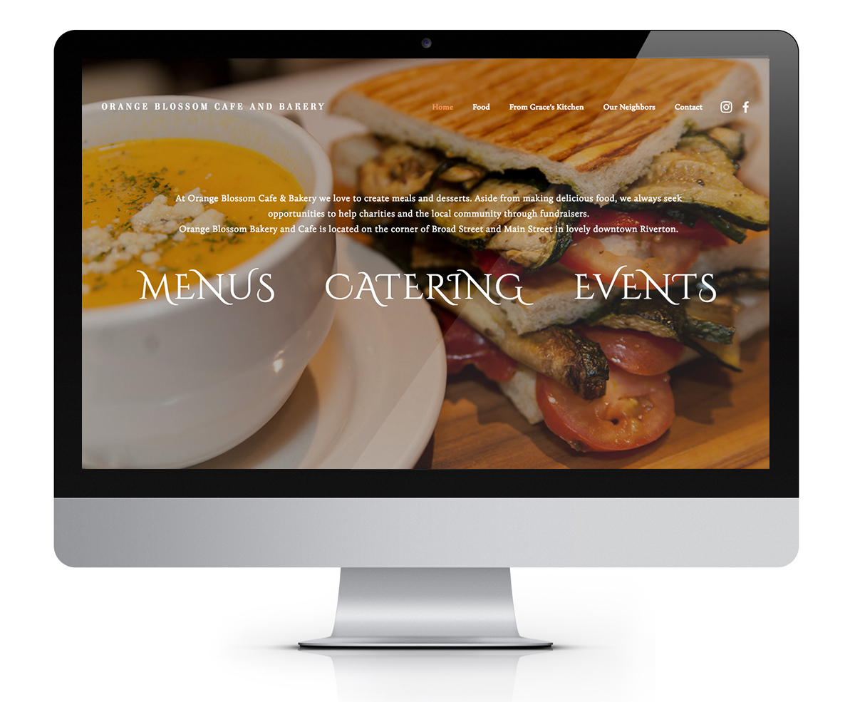 Orange Blossom Cafe Website