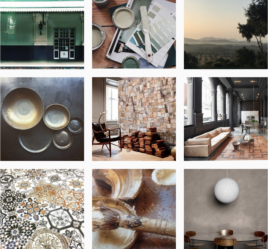 @michelleogundehin - Subjects covered in this account include interiors, home decor objects and materiality. It's no wonder—Michelle Ogundehin is the Editor-in-Chief at Elle Decoration UK.All the posts flow gradually through the color spectrum.