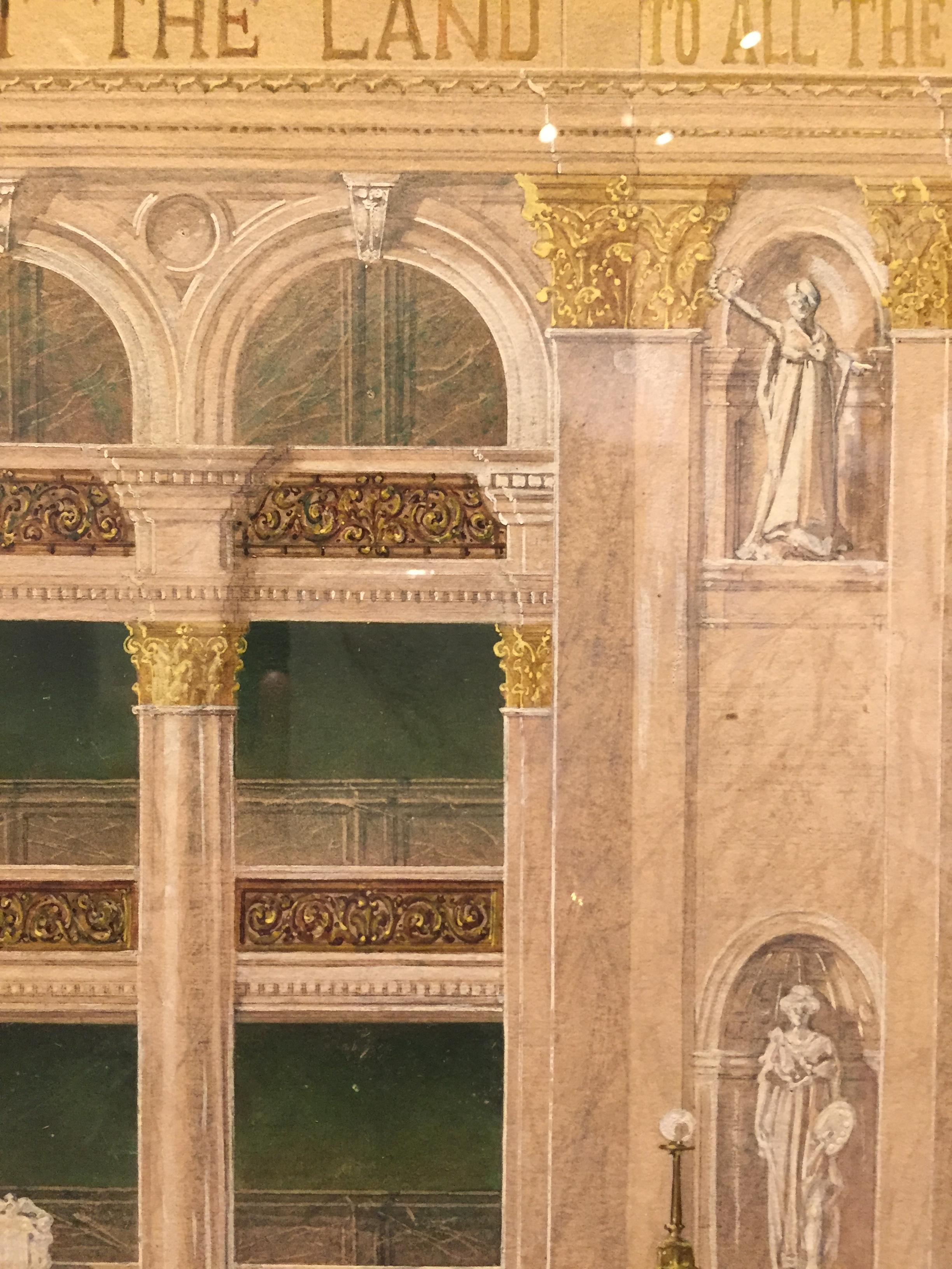 Interior Elevation Detail, Joseph M. Husdon