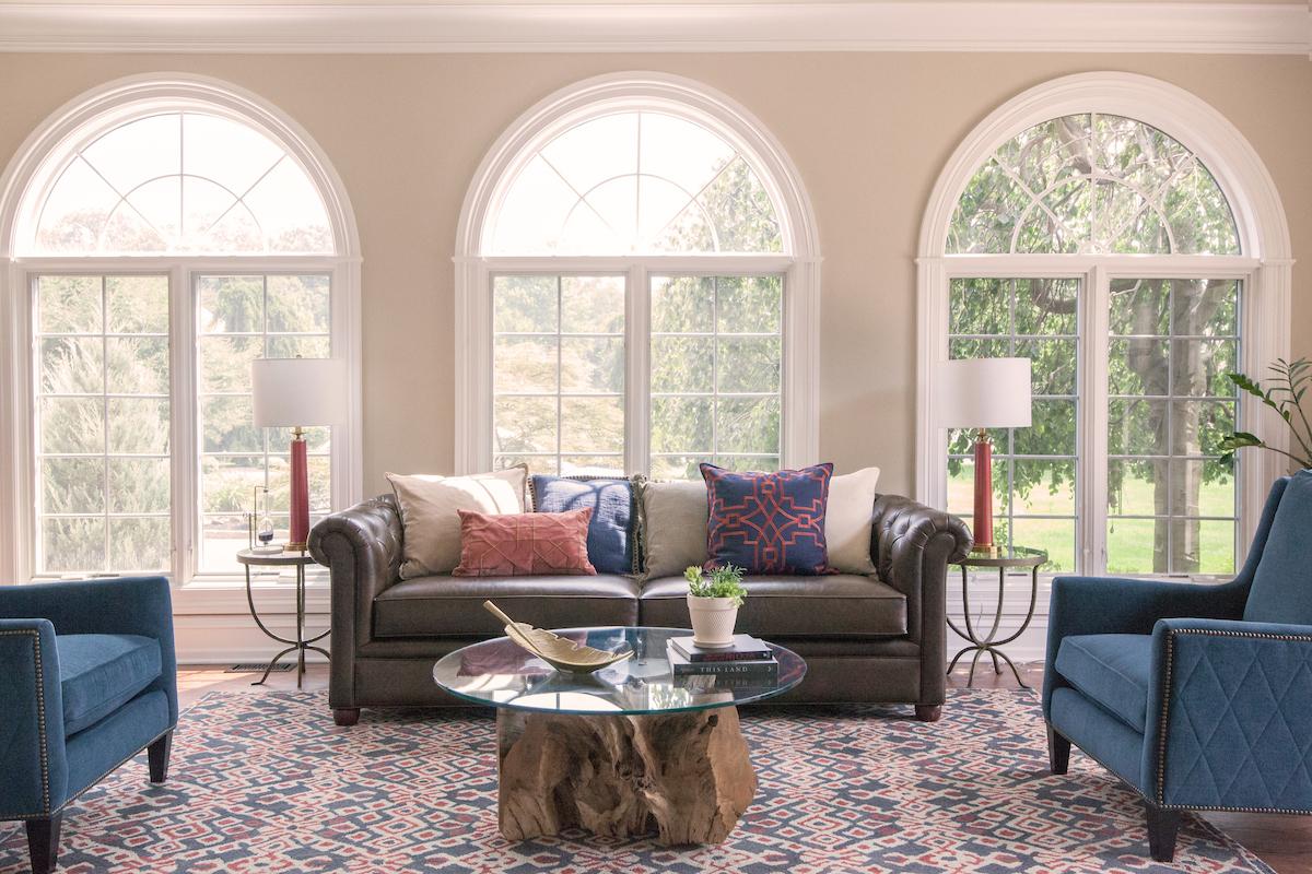 Transitional Americana Living Room — SG23 Design