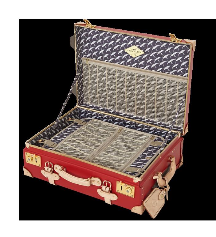 Streamline Red Luggage Interior
