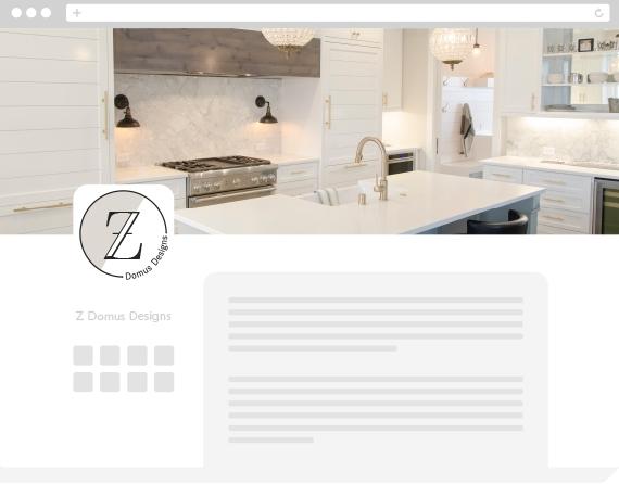 Z Domus Designs Social Media Mock-up
