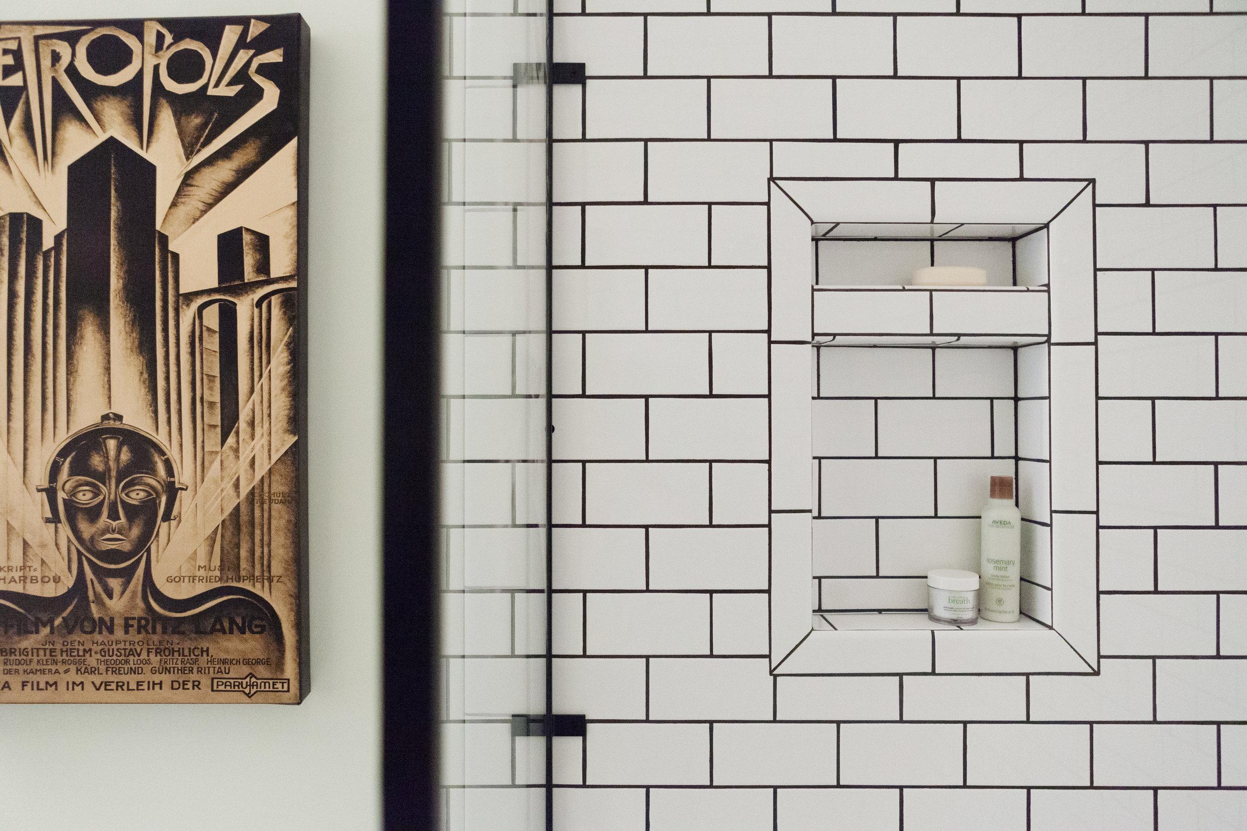Memphis Street Loft - Shower Niche and Hardware