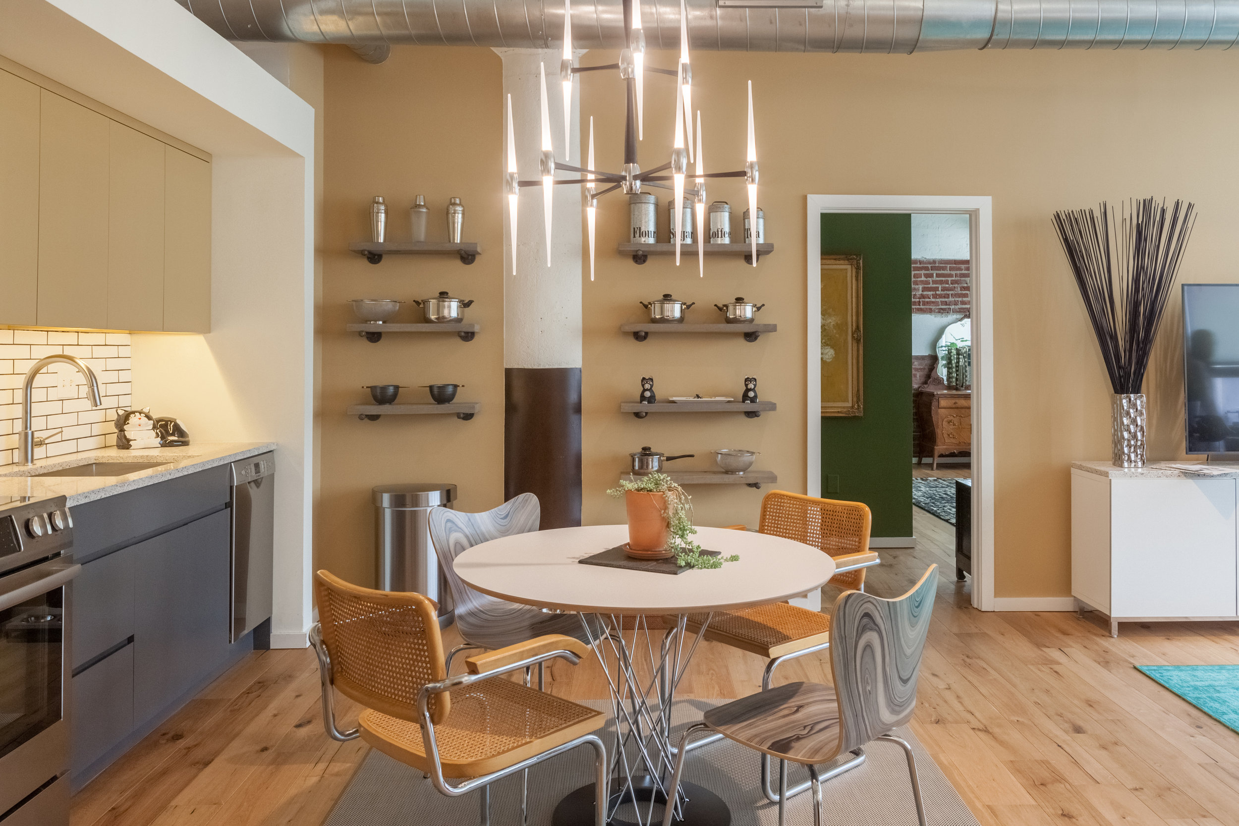 Memphis Street Loft Kitchen