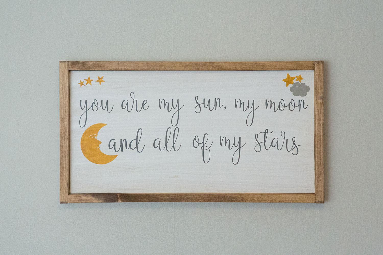 Sun Moon and Stars Nursery Artwork