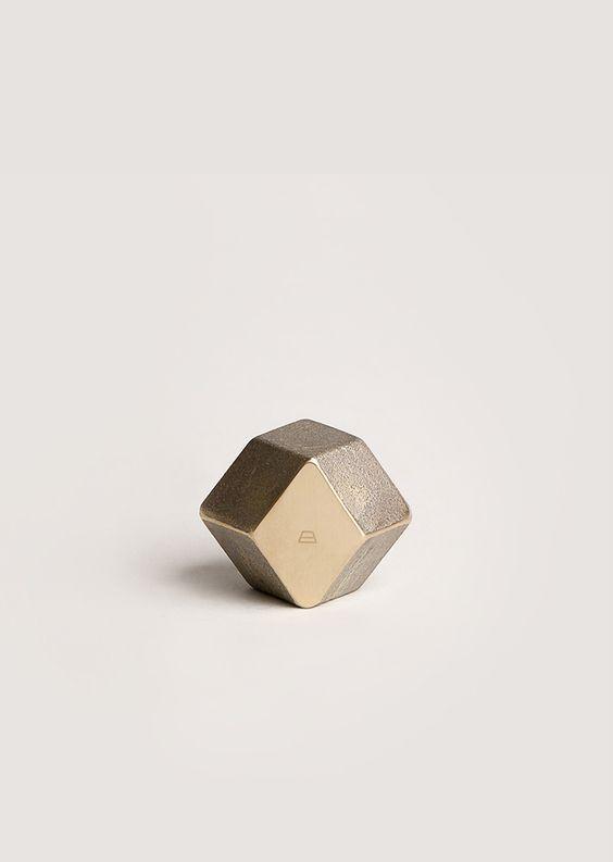 Brass Rhombus Paperweight - Art&Article