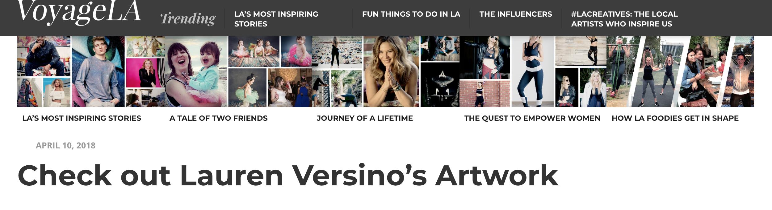 VoyageLA Lauren Versino featured artist bio