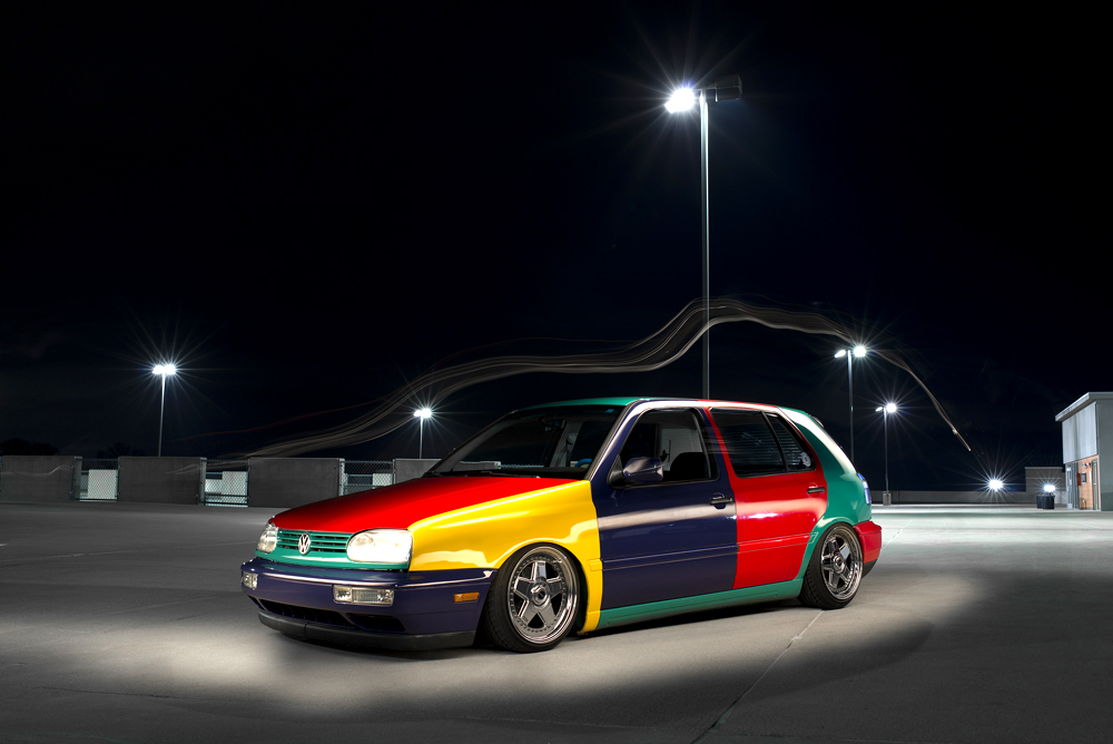 Volkswagen Harlequin. Painting with light